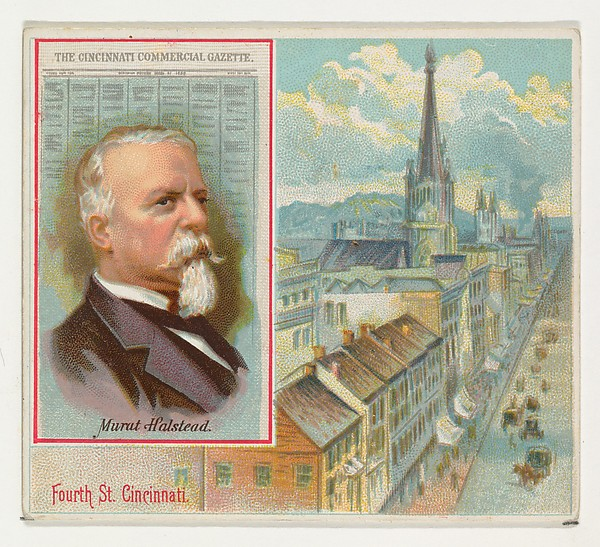 Murat Halstead, The Cincinnati Commercial Gazette, from the American Editors series (N35) for Allen & Ginter Cigarettes