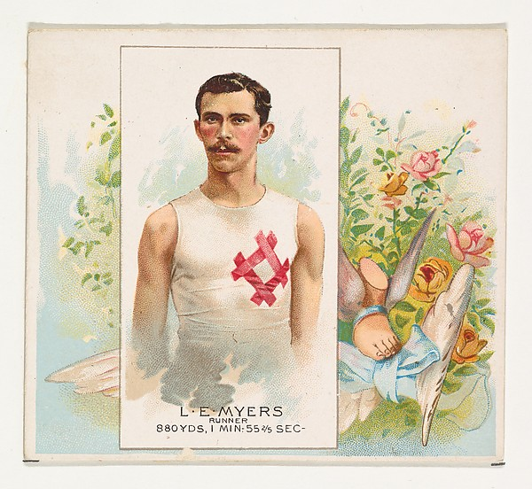 L.E. Meyers, Runner, from World's Champions, Second Series (N43) for Allen & Ginter Cigarettes