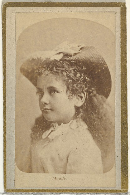 Maude, from the Actresses and Celebrities series (N60, Type 2) promoting Little Beauties Cigarettes for Allen & Ginter brand tobacco products