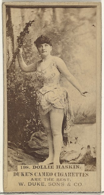 Card Number 198, Dollie Haskin, from the Actors and Actresses series (N145-5) issued by Duke Sons & Co. to promote Cameo Cigarettes