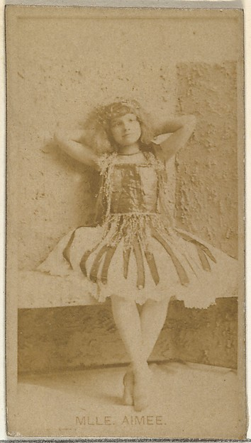 Mlle. Aimee, from the Actors and Actresses series (N145-8) issued by Duke Sons & Co. to promote Duke Cigarettes