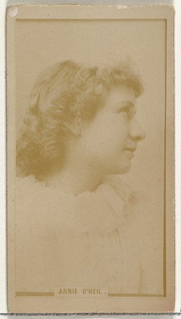 Annie O'Neil, from the Actors and Actresses series (N145-8) issued by Duke Sons & Co. to promote Duke Cigarettes