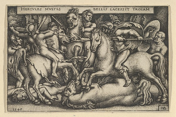 Hercules Fighting Against the Trojans from The Labors of Hercules