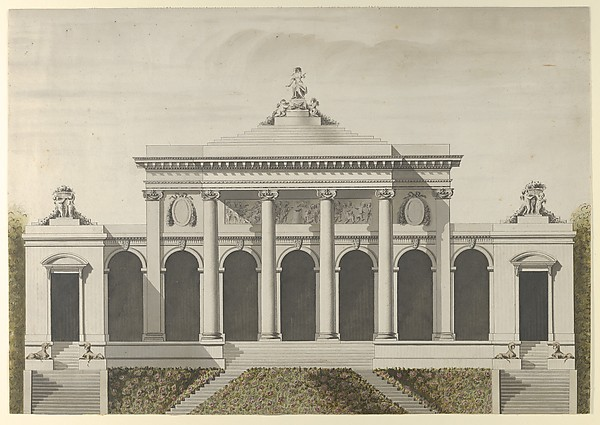 After Etienne Louis Boull 233 E Elevation For The Garden
