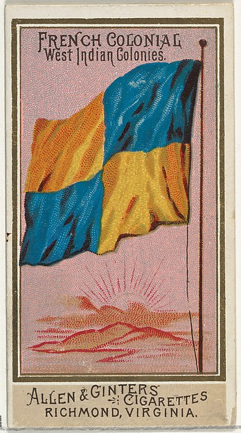 French Colonial West Indian Colonies, from Flags of All Nations, Series 2 (N10) for Allen & Ginter Cigarettes Brands