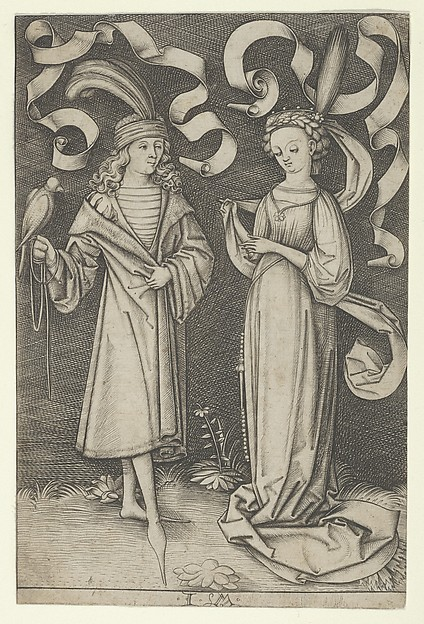 The Falconer and the Lady, from the series Scenes of Daily Life