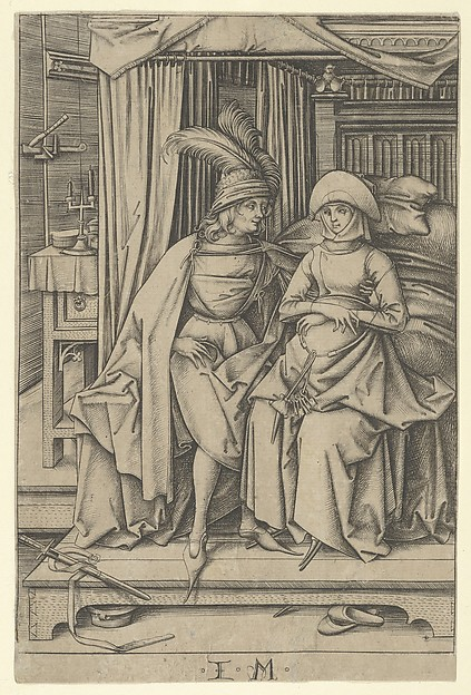 Couple Seated on a Bed, from Scenes of Daily Life