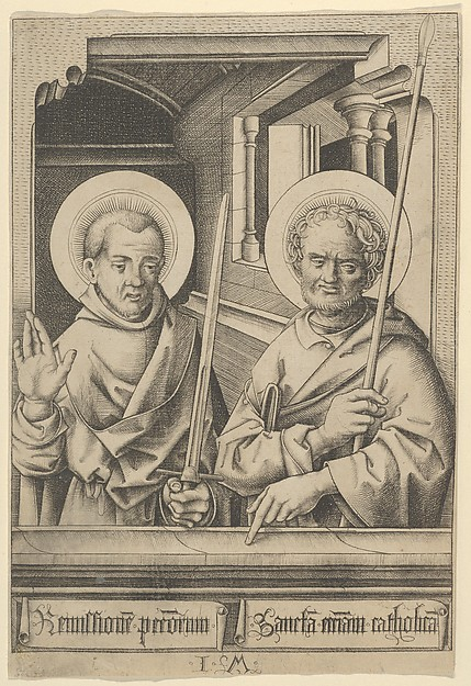 St. Simon (?) and St. Matthew, from The Apostles