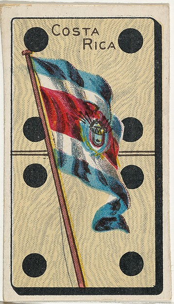 Costa Rica, from the National Flag on Domino series (T177) issued by Kinney Brothers to promote Sweet Caporal Cigarettes
