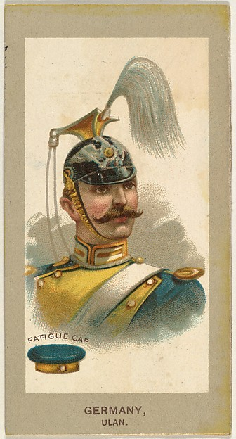 Fatigue Cap, Ulan, Germany, from the Military Uniforms series (T182) issued by Abdul Cigarettes