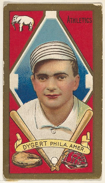 "James Dygert, Philadelphia, American League, from the ""Baseball Series"" (Gold Borders) set (T205) issued by the American Tobacco Company"