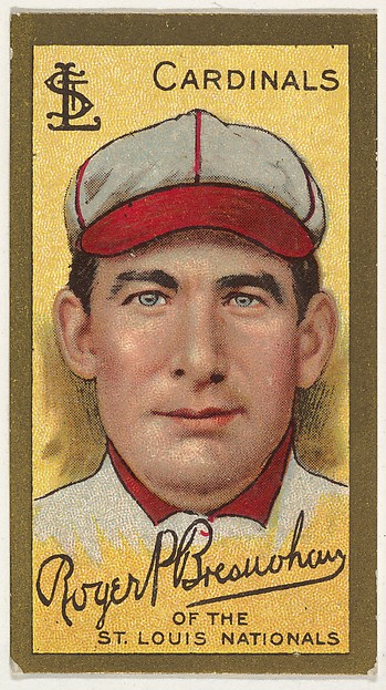 "Roger Bresnahan, St. Louis Cardinals, National League, from the ""Baseball Series"" (Gold Borders) set (T205) issued by the American Tobacco Company"