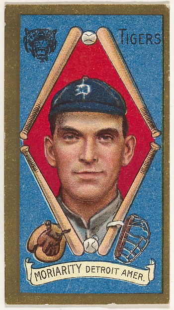 """Moriarity, Detroit Tigers, American League, from the """"Baseball Series"""" (Gold Borders) set (T205) issued by the American Tobacco Company"""