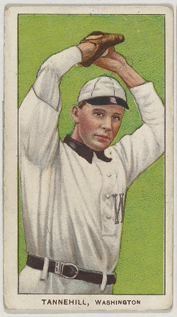 Tannehill, Washington, American League, from the White Border series (T206) for the American Tobacco Company