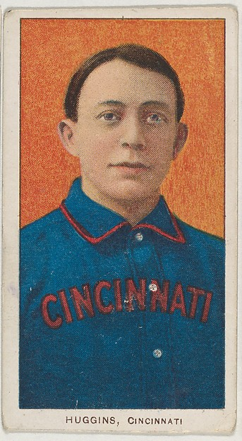 Huggins, Cincinnati, National League, from the White Border series (T206) for the American Tobacco Company