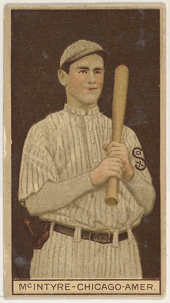 Matthew McIntyre, Chicago, American League, from the Brown Background series (T207) for the American Tobacco Company