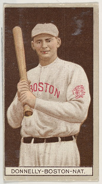 Edward Donnelly, Boston, National League, from the Brown Background series (T207) for the American Tobacco Company