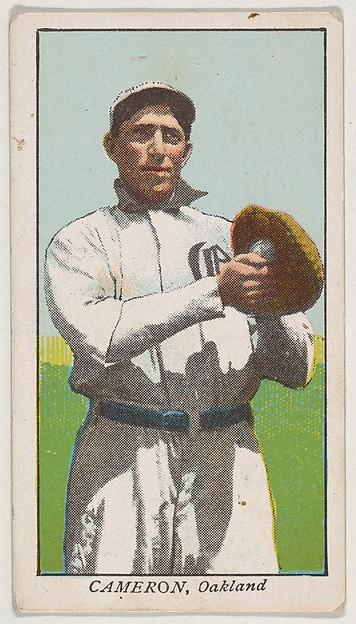 "Cameron, Oakland, from the ""Obak Baseball Players"" set (T212), issued by the American Tobacco Company to promote Obak Mouthpiece Cigarettes"