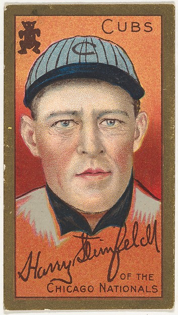 "Harry Steinfeldt, Chicago Cubs, National League, from the ""Baseball Series"" (Gold Borders) set (T205) issued by the American Tobacco Company"
