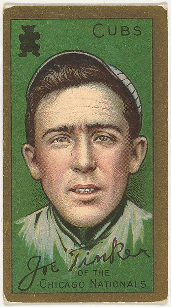 "Joe Tinker, Chicago Cubs, National League, from the ""Baseball Series"" (Gold Borders) set (T205) issued by the American Tobacco Company"