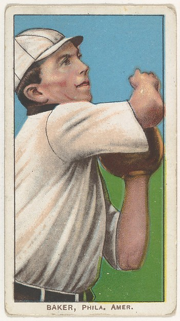 Baker, Philadelphia, American League, from the White Border series (T206) for the American Tobacco Company