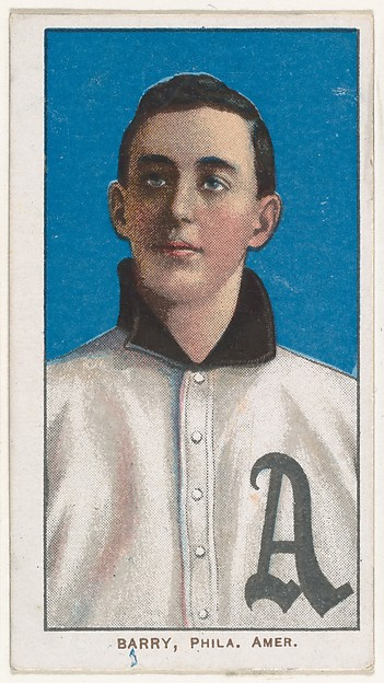 Barry, Philadelphia, American League, from the White Border series (T206) for the American Tobacco Company