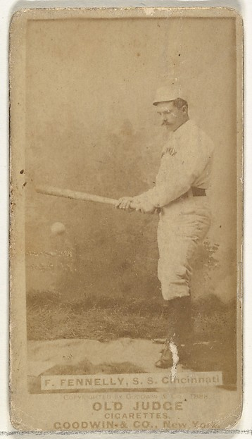 "Francis John ""Frank"" Fennelly, Shortstop, Cincinnati, from the Old Judge series (N172) for Old Judge Cigarettes"