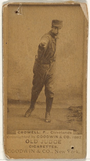 "William Theodore ""Billy"" Crowell, Pitcher, Cleveland, from the Old Judge series (N172) for Old Judge Cigarettes"