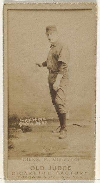 "Robert James ""Bob"" Gilks, Pitcher, Cleveland, from the Old Judge series (N172) for Old Judge Cigarettes"