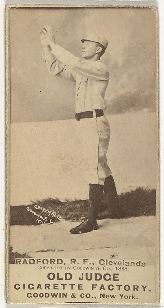 "Paul Revere ""Shorty"" Radford, Right Field, Cleveland, from the Old Judge series (N172) for Old Judge Cigarettes"