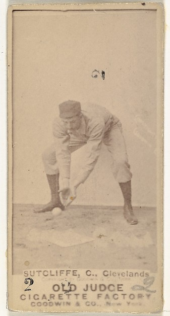 "Elmer Ellsworth ""Sy"" Sutcliffe, Catcher, Cleveland, from the Old Judge series (N172) for Old Judge Cigarettes"