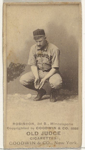 Myers C. Robinson, 3rd Base, Minneapolis, from the Old Judge series (N172) for Old Judge Cigarettes