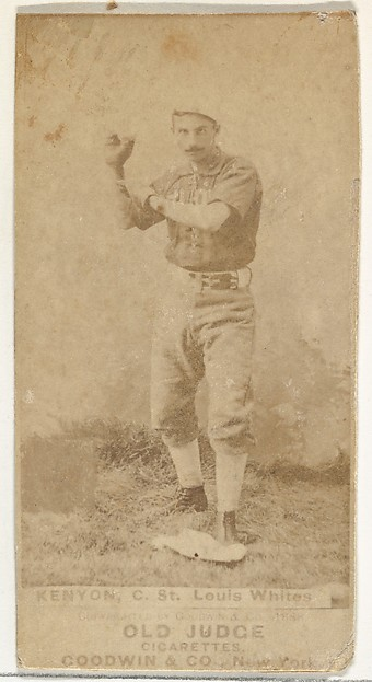 Kenyon, Catcher, St. Louis Whites, from the Old Judge series (N172) for Old Judge Cigarettes