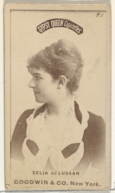 Zelia de Lussan, from the Actors and Actresses series (N171) for Gypsy Queen Cigarettes