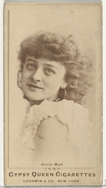 Josie Hall, from the Actors and Actresses series (N171) for Gypsy Queen Cigarettes
