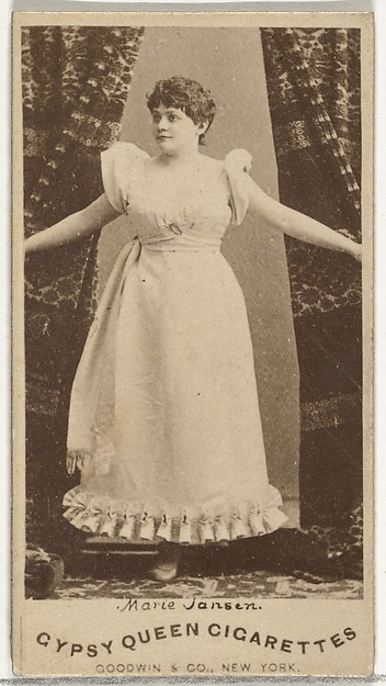Marie Jansen, from the Actors and Actresses series (N171) for Gypsy Queen Cigarettes