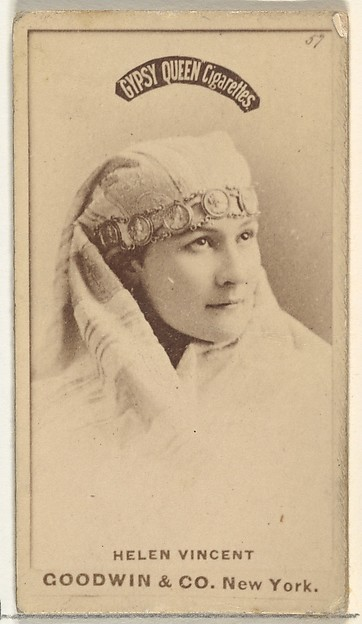 Helen Vincent, from the Actors and Actresses series (N171) for Gypsy Queen Cigarettes