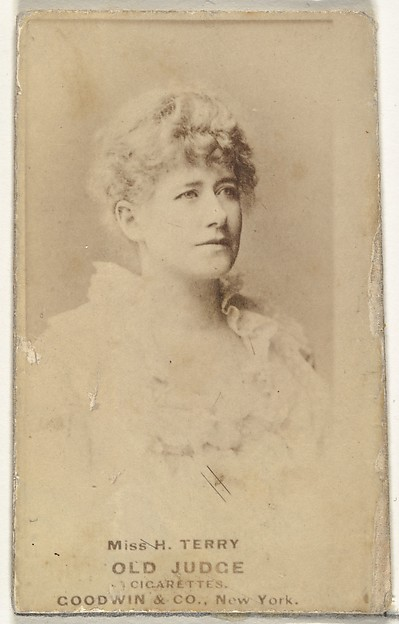 Miss H. Terry, from the Actors and Actresses series (N171) for Old Judge Cigarettes