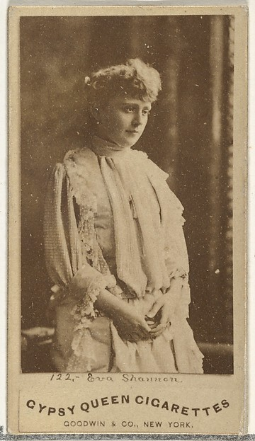 Eva Shannon, from the Actors and Actresses series (N171) for Gypsy Queen Cigarettes