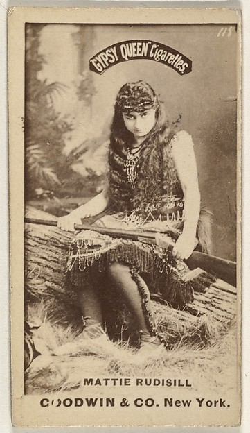 Mattie Rudisill, from the Actors and Actresses series (N171) for Gypsy Queen Cigarettes