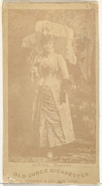 Lillian Russell, from the Actors and Actresses series (N171) for Old Judge Cigarettes