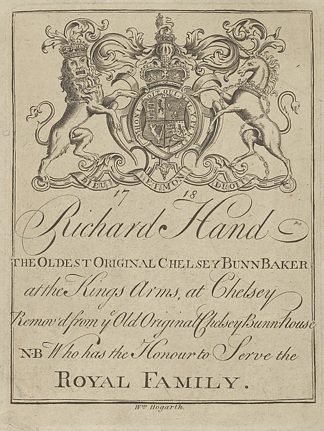 Trade Card of Richard Hand, The Oldest Original Chelsey Bunn Baker