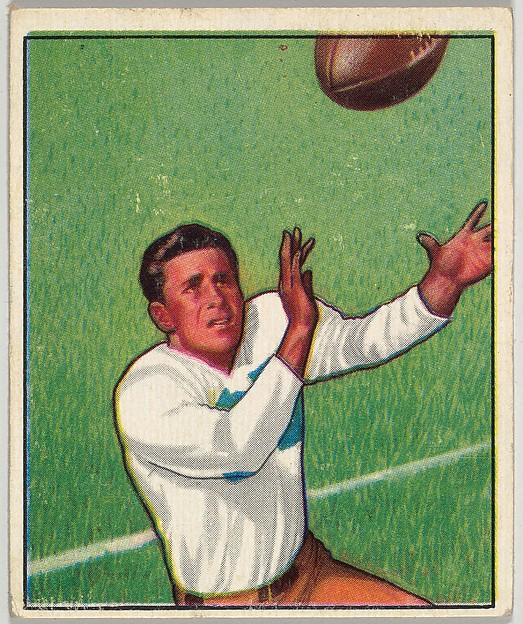 Card Number 1, Doak Walker, Halfback, Detroit Lions, from the Bowman Football series (R407-2) issued by Bowman Gum