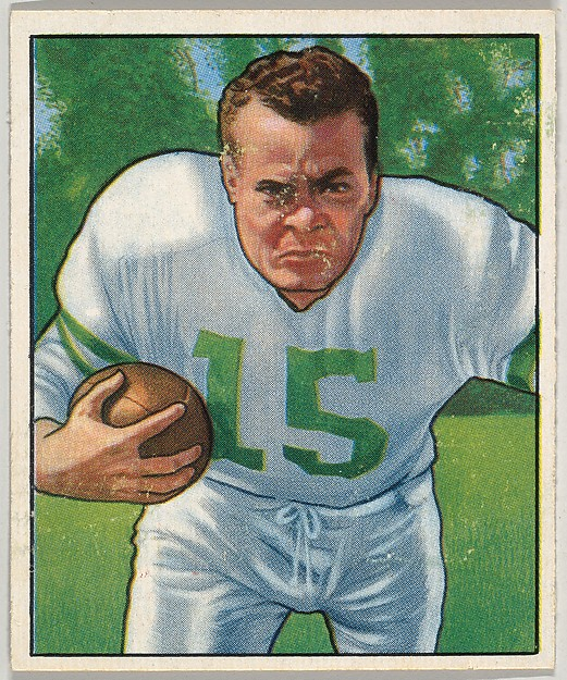 Card Number 23, Steve Van Buren, Halfback, Philadelphia Eagles, from the Bowman Football series (R407-2) issued by Bowman Gum