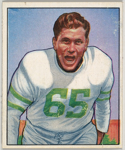 Card Number 24, Cliff Patton, Guard, Philadelphia Eagles, from the Bowman Football series (R407-2) issued by Bowman Gum