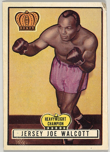 Jersey Joe Walcott, Heavyweight Champion, from the Topps Ringside series (R411) issued by Topps Chewing Gum Company