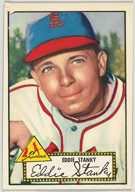 Card Number 76, Eddie Stanky, St. Louis Cardinals, from the Topps Baseball series (R414-6) issued by Topps Chewing Gum Company