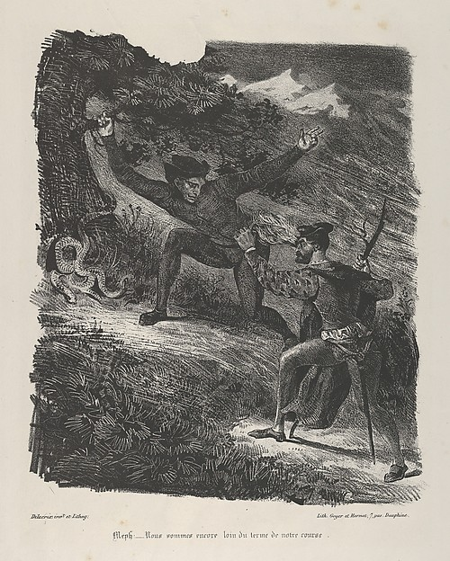 Faust and Mephistopheles in the Hartz Mountains