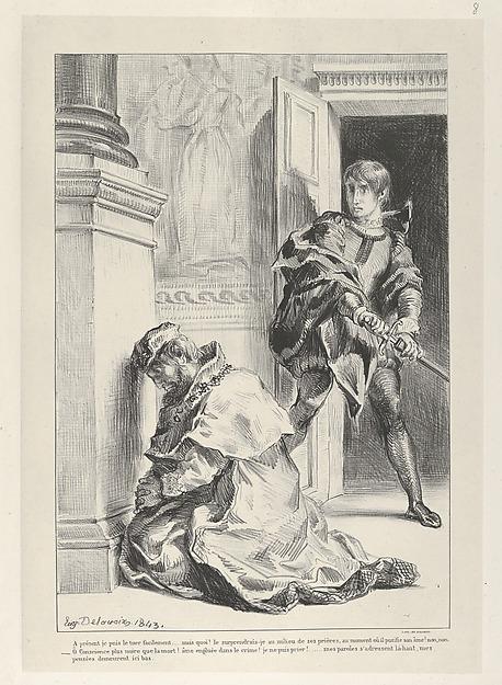 Hamlet Attempts to Kill the King (Hamlet, Act 3, Scene 3)