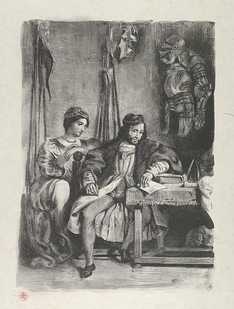 Goetz von Berlichingen Wrtiting his Memoirs (Act 4, Scene 5)